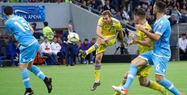 Прямая трансляция матча отбора на Евро-2020 Сан-Марино - Казахстан