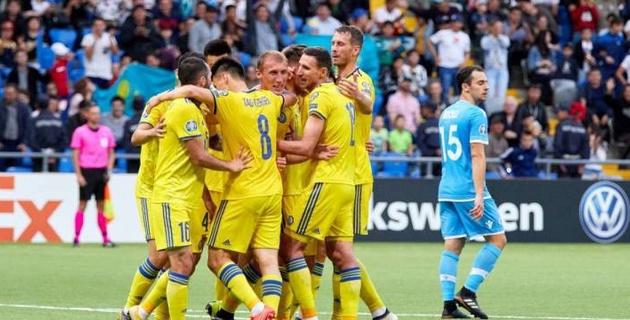 Сборная Казахстана забила три гола Сан-Марино в первом тайма матча отбора на Евро-2020