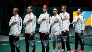 Казахстан победил Голландию и вышел на первое место в группе Кубка Дэвиса