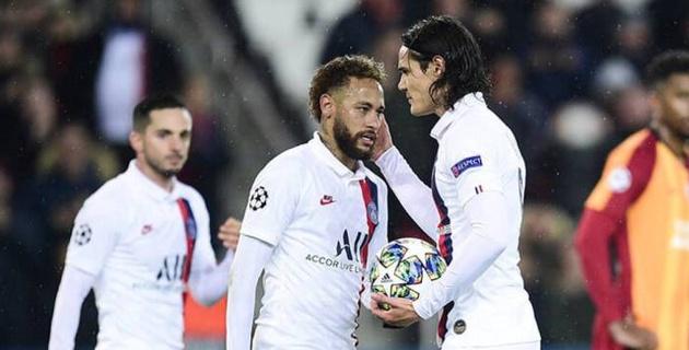 Неймар отдал Кавани пенальти в матче Лиги чемпионов