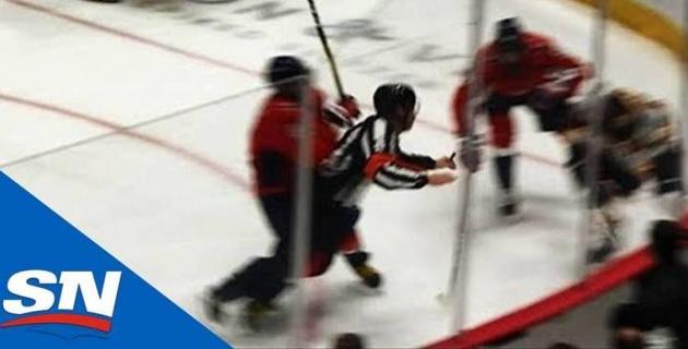 Судья НХЛ попал под силовой прием Овечкина и оказался в больнице