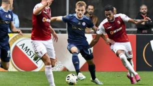 Футболист из Казахстана сыграл за словацкий клуб в заключительном матче ЛЕ
