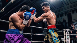 Небитый казахстанец выиграл досрочно в Алматы и завоевал титул от WBC