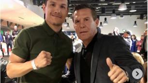 Елеусинов встретился с легендой бокса и экс-соперником Головкина перед боем на DAZN
