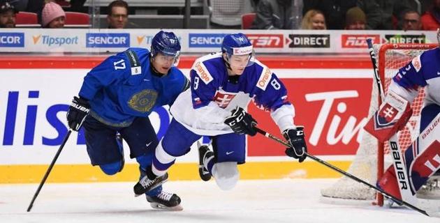 Сборная Казахстана в упорной борьбе проиграла Словакии на молодежном ЧМ по хоккею