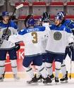 Гимн Казахстана после первой победы на МЧМ-2020 по хоккею