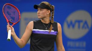 Новая первая ракетка Казахстана одержала волевую победу и вышла в полуфинал турнира WTA