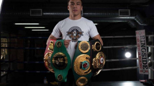 Бой непобежденного казахстанца за титулы от WBA и IBF покажут в прямом эфире в Казахстане