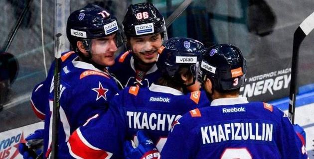 """Победа над """"Барысом"""" сделала СКА вторым участником плей-офф КХЛ"""