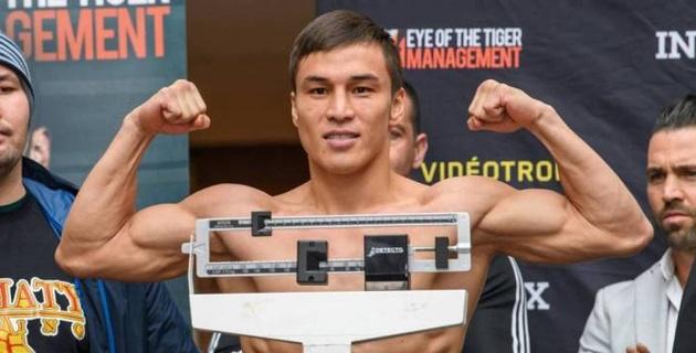 Казахстанец Джукембаев прошел взвешивание перед главным боем вечера бокса в Канаде