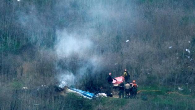 Полиция назвала причину крушения вертолета Коби Брайанта