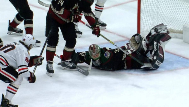 "Вратарь из НХЛ отразил шайбу ""ударом скорпиона"""