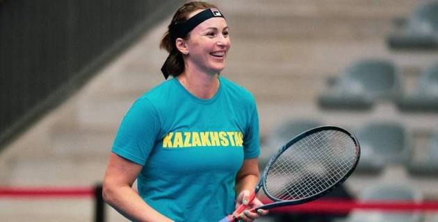 Самая титулованная теннисистка Казахстана провела первый матч после рождения двойни