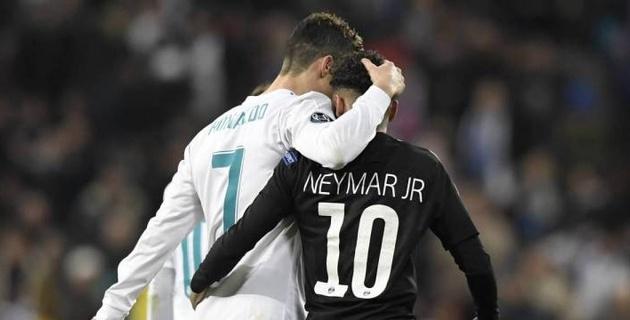 Неймар не включил Роналду в пятерку лучших футболистов в мире