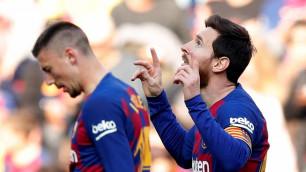"""Месси сделал покер и вывел """"Барселону"""" на первое место в чемпионате Испании"""