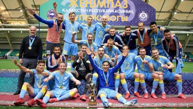 """Футболисты """"Астаны"""" установили рекорд Суперкубка Казахстана"""