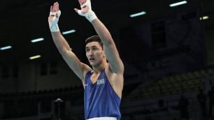 Первая дуэль с Узбекистаном. Вице-чемпион мира из Казахстана выиграл бой на отборе к ОИ-2020