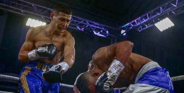 Видео нокаута в первом раунде, или как казахстанский боксер одержал девятую подряд победу в профи