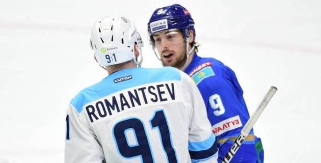 """Как """"Барыс"""" играл с соперником по второму раунду плей-офф КХЛ в регулярном чемпионате"""
