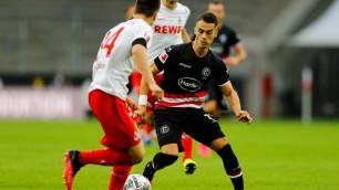 Футболист с казахстанскими корнями привез пенальти и забил гол в матче немецкой бундеслиги