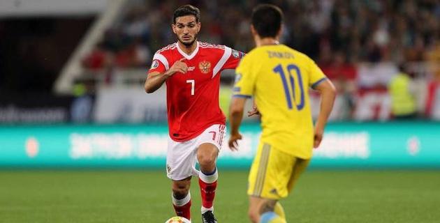 Казахстан редко переходил середину поля и создал нам проблемы - футболист сборной России