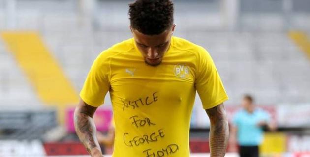 Твиттер ФИФА удалил фото Санчо в майке со словами о Джордже Флойде