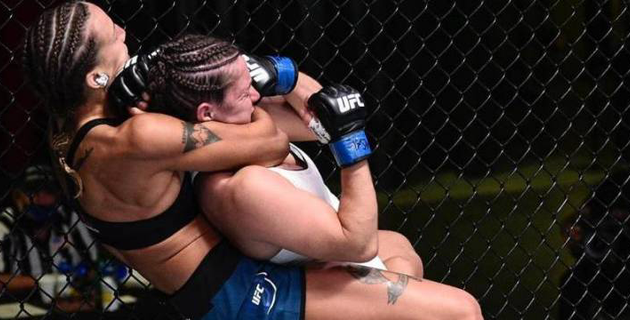 20 в голову. Сколько ударов нанесла первая казахстанка в истории UFC в дебютном бою