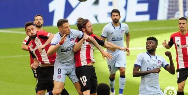 """""""Атлетико"""" повторил клубный рекорд в первом матче после возобновления Ла Лиги"""