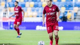 В Европе оценили игру казахстанца Жукова после поражения его клуба в группе вылета