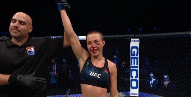 Американка победила с сильной гематомой на турнире UFC с участием Жумагулова
