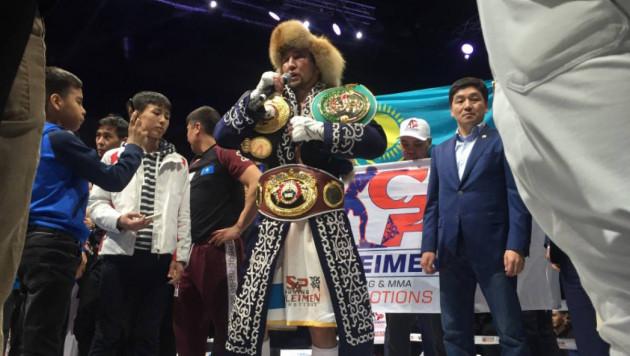 WBO отреагировала на победу казахстанского боксера в бою за три титула