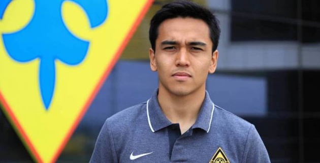 Казахстанец дебютировал в стартовом составе латвийского клуба