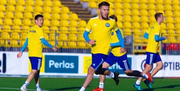Появилось видео тренировки футболистов сборной Казахстана перед матчем с Литвой