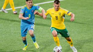 Матч с Литвой стал юбилейным для Исламхана в сборной Казахстана
