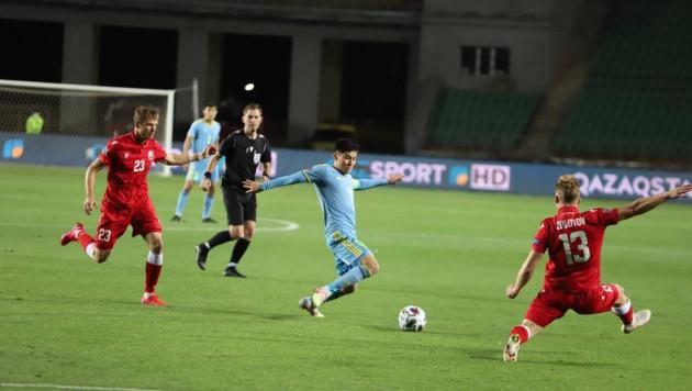 Сборная Казахстана проиграла Беларуси в первом домашнем матче Лиги наций