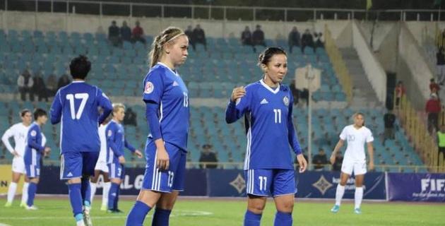 Женская сборная Казахстана по футболу пропустила 5 мячей и потерпела пятое кряду поражение в отборе на Евро