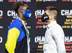 Деревянченко и Чарло прошли взвешивание перед боем за титул чемпиона WBC в весе Головкина