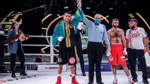 """Прислали """"почтальончика"""", или почему казахстанец выиграл титул от IBF после нокдауна"""