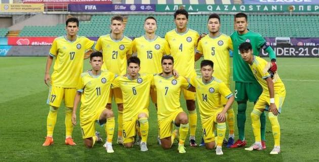 """Казахстанская """"молодежка"""" проиграла за второе место в группе отбора на Евро в матче с двумя пенальти и двумя удалениями"""