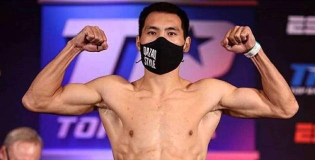 Казахстанский проспект среднего веса прошел взвешивание перед боем с аргентинским боксером