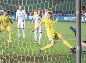 Завершился первый тайм матча Лиги наций Казахстан - Албания