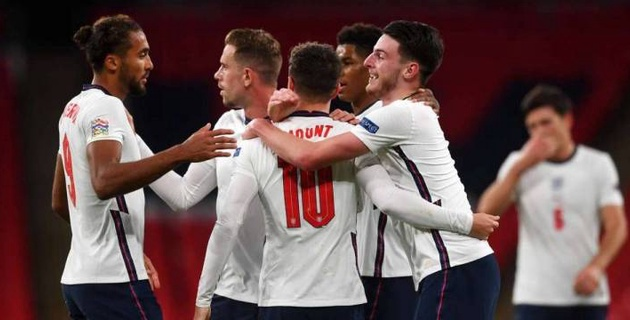 Сборная Англии по футболу одержала волевую победу и вышла на первое место в группе Лиги наций