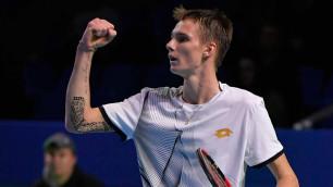 Первая ракетка Казахстана стартовал с победы  на турнире ATP в Санкт-Петербурге