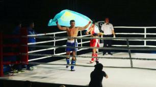 Казахстанский боксер нокаутировал в первом раунде соперника с 44 боями в профи
