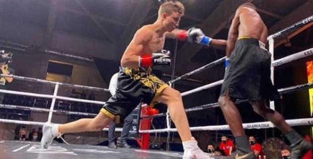 Казахстанский боксер нокаутировал соперника во втором подряд бою в профи