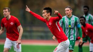 Казахстанский футболист забил дебютный гол за европейский клуб