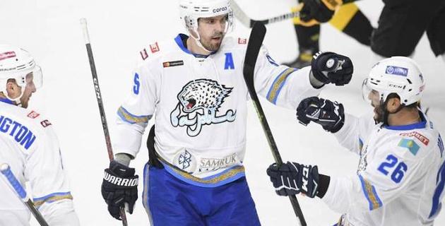 """""""Барыс"""" благодаря дублю Дица одержал третью победу подряд и вернулся в зону плей-офф КХЛ"""