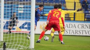Сборная Казахстана по футболу сыграла в нулевую ничью с Черногорией в матче с незасчитанным голом