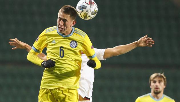 """Футболист """"Кайрата"""" отреагировал на свой роскошный гол в матче Лиги наций"""