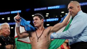 Названный заменой Головкина узбекский боксер сломал ребро сопернику и вынудил того сдаться